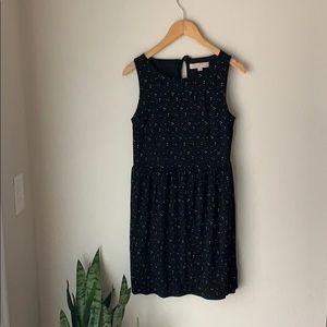 Ann Taylor Loft knit dot dress S